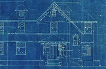 Weyerhaeuser house blueprints from 1898