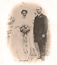 Drew and Sarah Musser wedding 1903