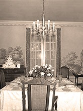 Dining room in the Musser mansion