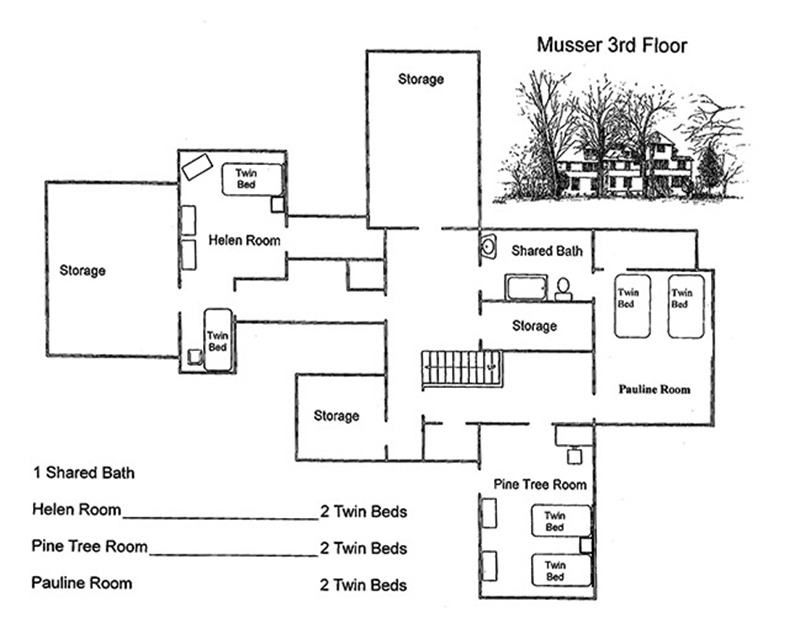 Musser House 3rd Floor Plans