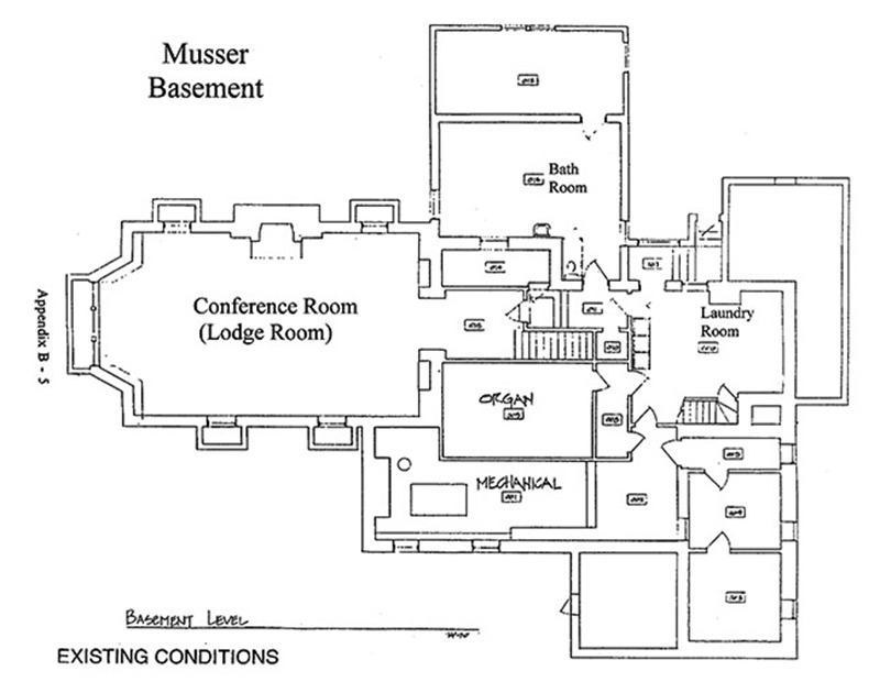 Musser House Basement Floor Plans