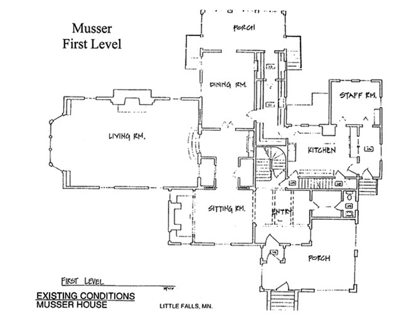 Musser House 1st Floor Plans
