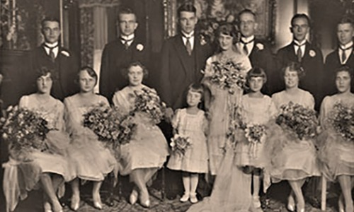 Alice Musser's wedding day 1921